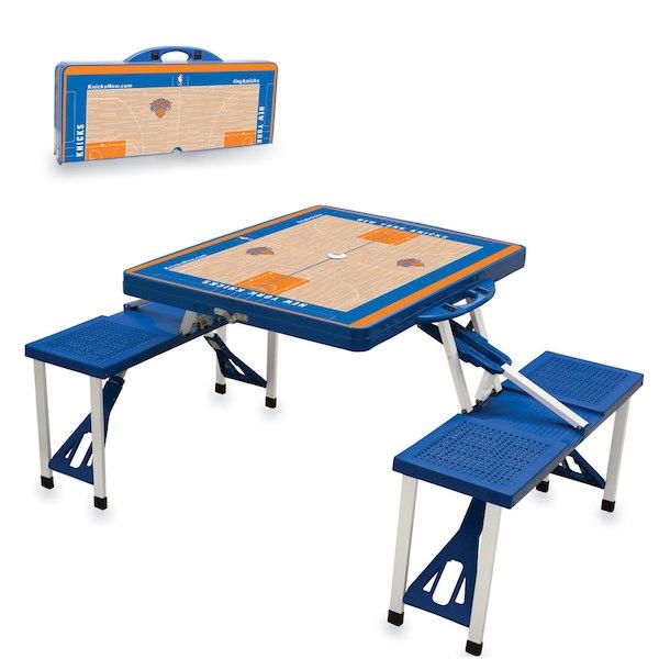 お取り寄せ NBA ニックス レジャー/アウトドア 折りたたみ テーブル ロイヤルブルー