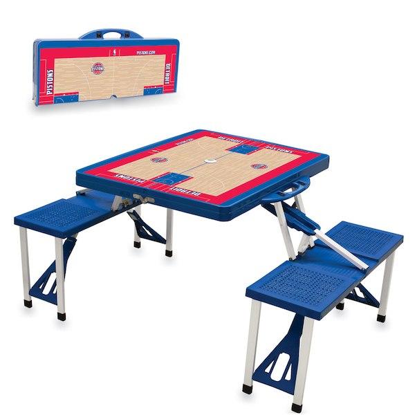 お取り寄せ NBA ピストンズ レジャー/アウトドア 折りたたみ テーブル ロイヤルブルー