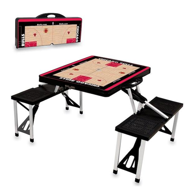 お取り寄せ NBA ブルズ レジャー/アウトドア 折りたたみ テーブル ブラック