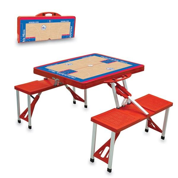お取り寄せ NBA 76ers レジャー/アウトドア 折りたたみ テーブル レッド