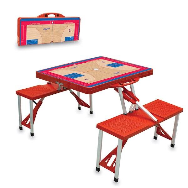 お取り寄せ NBA クリッパーズ レジャー/アウトドア 折りたたみ テーブル レッド