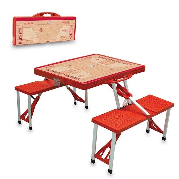 お取り寄せ NBA ロケッツ レジャー/アウトドア 折りたたみ テーブル レッド