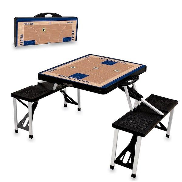 お取り寄せ NBA ペイサーズ レジャー/アウトドア 折りたたみ テーブル ブラック