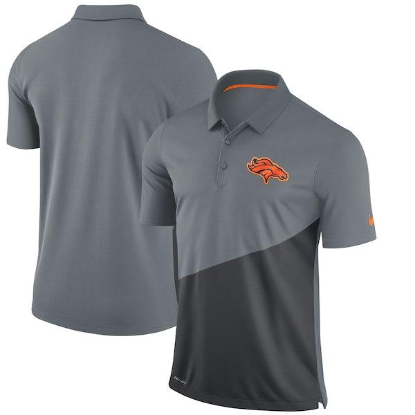 お取り寄せ NFL ブロンコス ポロシャツ スタジアム パフォーマンス ナイキ/Nike グレー