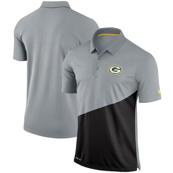 お取り寄せ NFL パッカーズ ポロシャツ スタジアム パフォーマンス ナイキ/Nike グレー