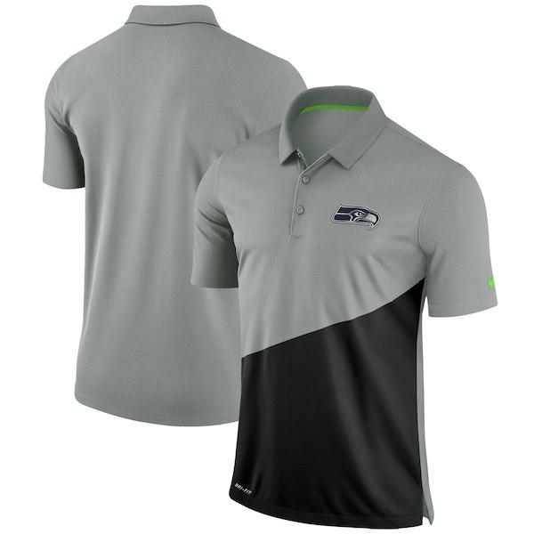 お取り寄せ NFL シーホークス ポロシャツ スタジアム パフォーマンス ナイキ/Nike グレー