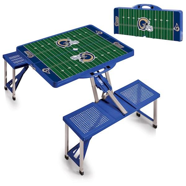 お取り寄せ NFL ラムズ レジャー/アウトドア 折りたたみ テーブル ブルー