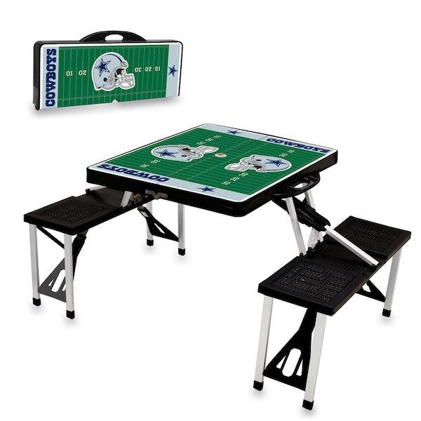 お取り寄せ NFL カウボーイズ レジャー/アウトドア 折りたたみ テーブル ブラック