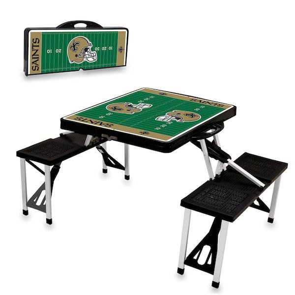 お取り寄せ NFL セインツ レジャー/アウトドア 折りたたみ テーブル ブラック