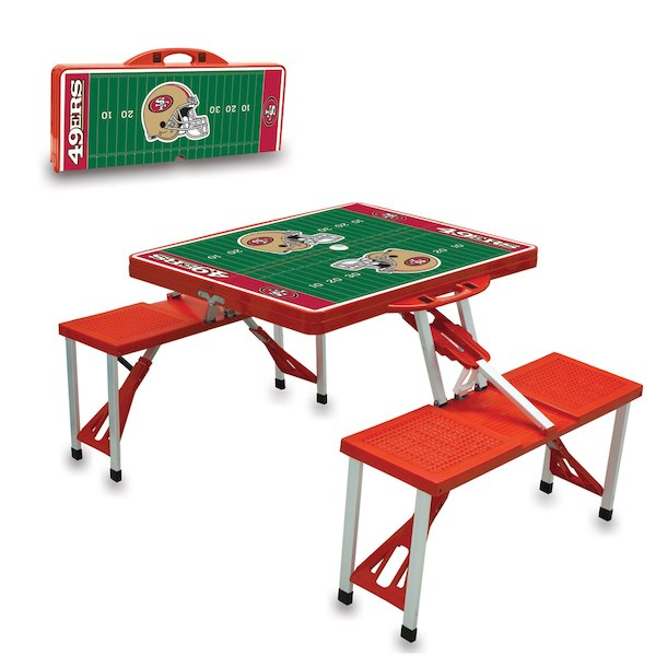 お取り寄せ NFL 49ers レジャー/アウトドア 折りたたみ テーブル スカーレット