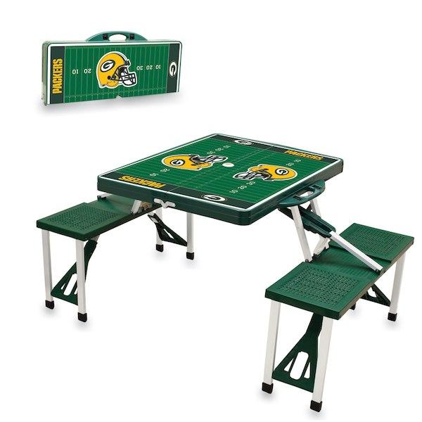 お取り寄せ NFL パッカーズ レジャー/アウトドア 折りたたみ テーブル グリーン