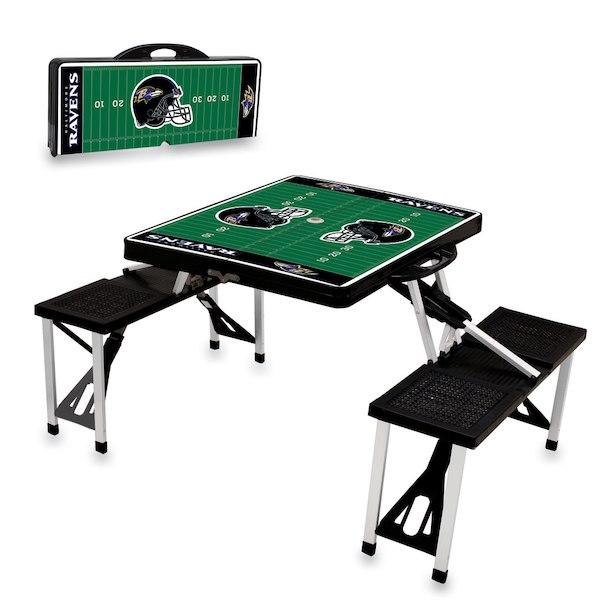 お取り寄せ NFL レイブンズ レジャー/アウトドア 折りたたみ テーブル ブラック