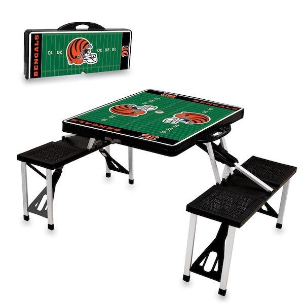 お取り寄せ NFL ベンガルズ レジャー/アウトドア 折りたたみ テーブル ブラック