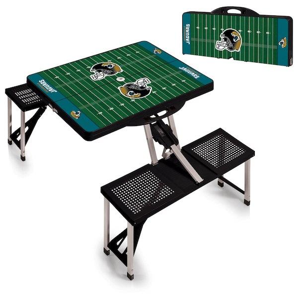 お取り寄せ NFL ジャガーズ レジャー/アウトドア 折りたたみ テーブル ブラック