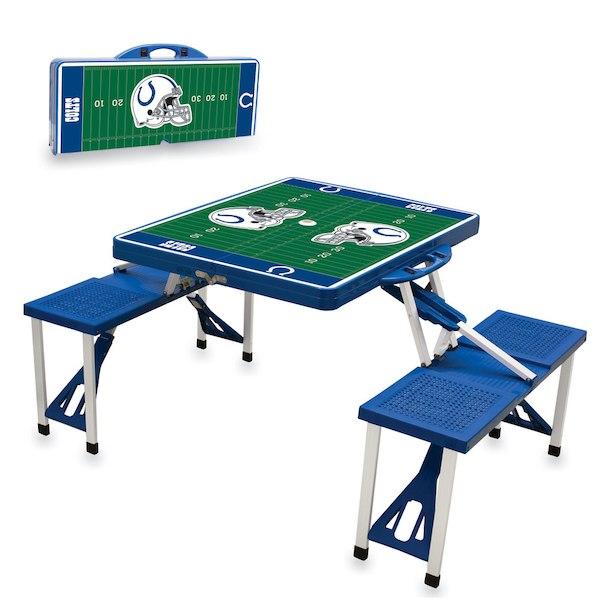 お取り寄せ NFL コルツ レジャー/アウトドア 折りたたみ テーブル ロイヤルブルー