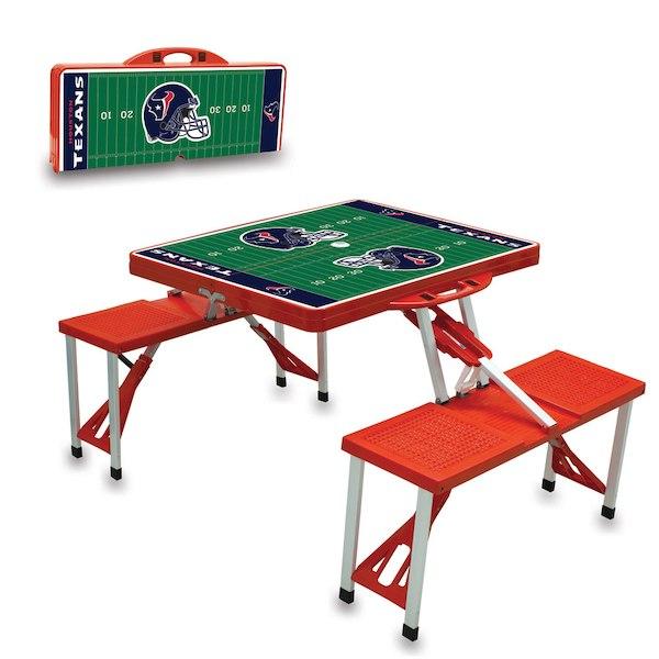 お取り寄せ NFL テキサンズ レジャー/アウトドア 折りたたみ テーブル レッド