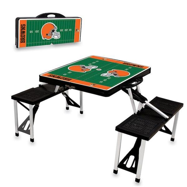 お取り寄せ NFL ブラウンズ レジャー/アウトドア 折りたたみ テーブル ブラック