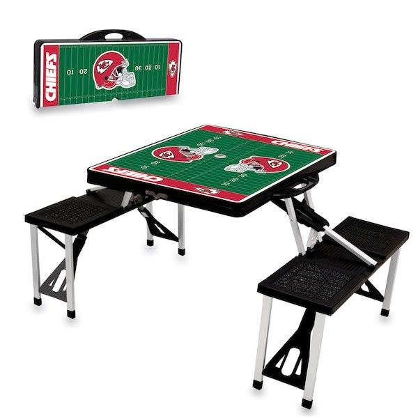 お取り寄せ NFL チーフス レジャー/アウトドア 折りたたみ テーブル ブラック