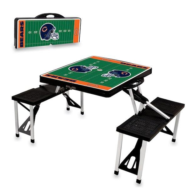 お取り寄せ NFL ベアーズ レジャー/アウトドア 折りたたみ テーブル ブラック