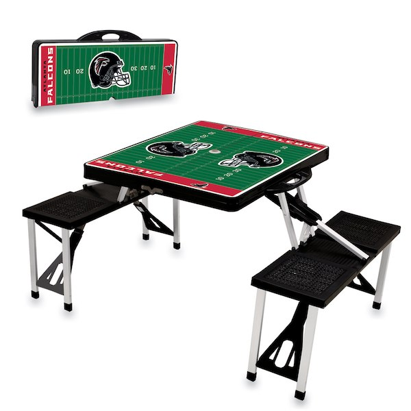 お取り寄せ NFL ファルコンズ レジャー/アウトドア 折りたたみ テーブル ブラック
