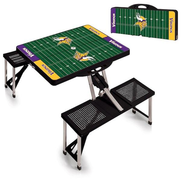 お取り寄せ NFL バイキングス レジャー/アウトドア 折りたたみ テーブル ブラック