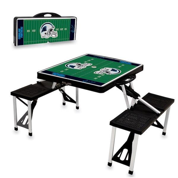 お取り寄せ NFL パンサーズ レジャー/アウトドア 折りたたみ テーブル ブラック