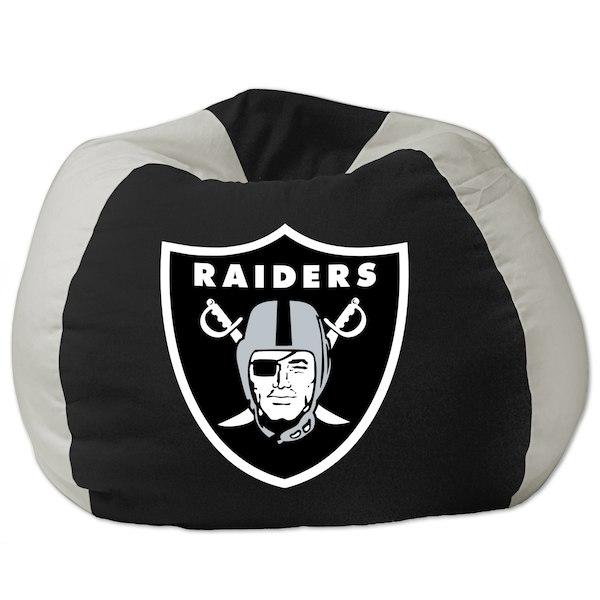 お取り寄せ NFL オークランド・レイダース ビーズクッションソファ/体にフィットするソファ チェア