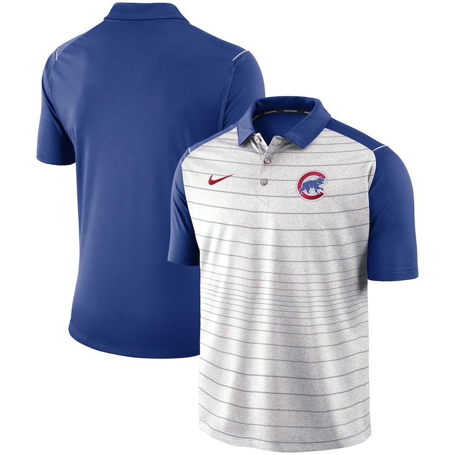 お取り寄せ MLB カブス ポロシャツ 半袖 ストライプ ナイキ/Nike グレー