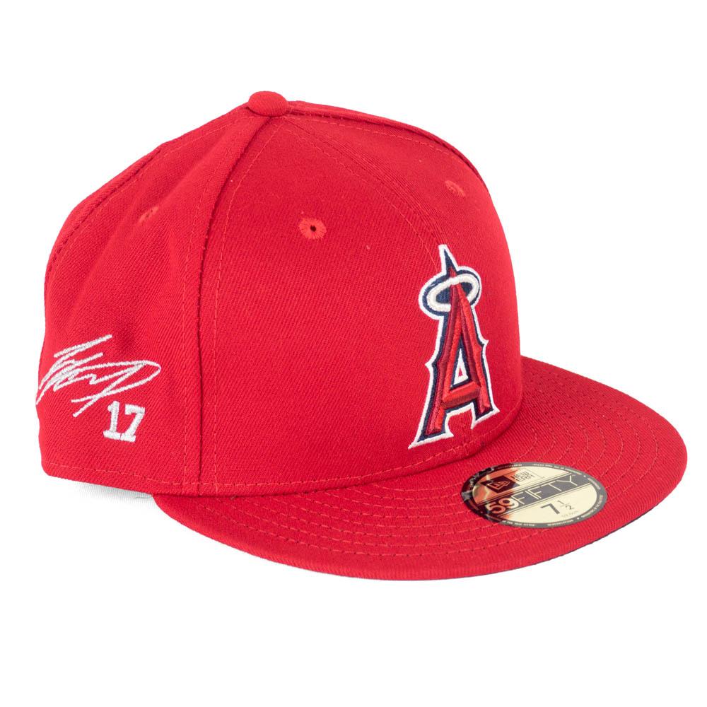 MLB エンゼルス 大谷翔平 キャップ/帽子 サイン刺繍入り 選手着用モデル ニューエラ/New Era ゲーム