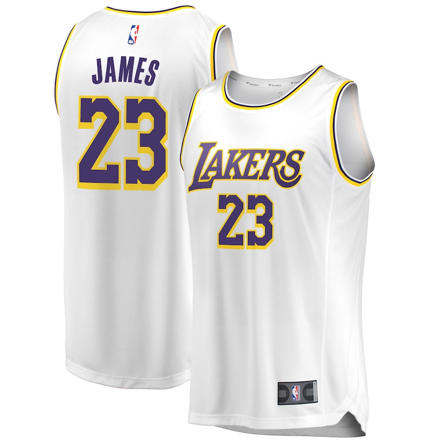 NBA レイカーズ レブロン・ジェイムス ユニフォーム/ジャージ 2018/19 レプリカ アソシエーション・エディション