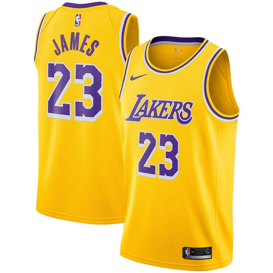 NBA レイカーズ レブロン・ジェイムス ユニフォーム/ジャージ 2018/19 スウィングマン アイコン・エディション ナイキ/Nike