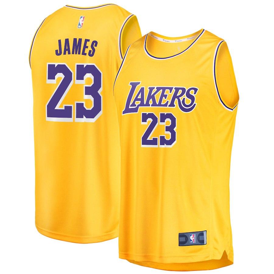 お取り寄せ NBA レイカーズ レブロン・ジェイムス ユニフォーム/ジャージ 2018/19 レプリカ アイコン・エディション