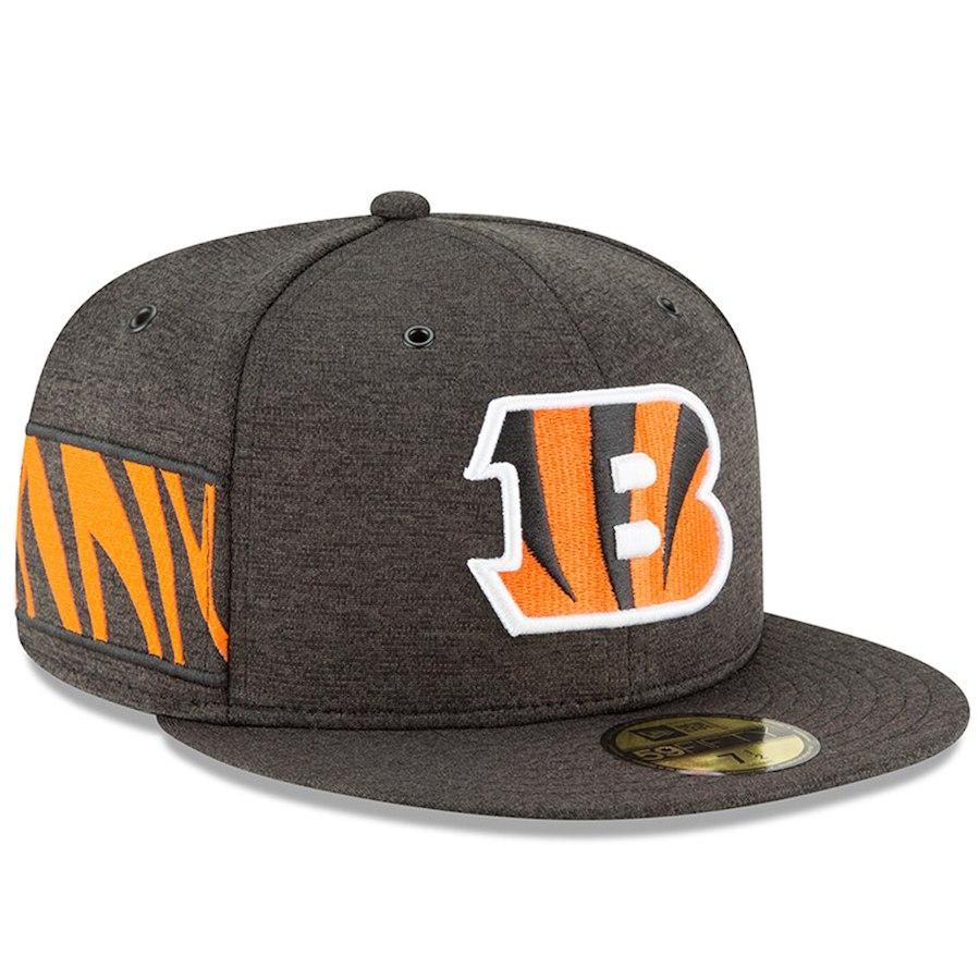 お取り寄せ NFL ベンガルズ キャップ/帽子 59FIFTY 2018 選手着用 サイドライン ホーム ニューエラ/New Era ブラック