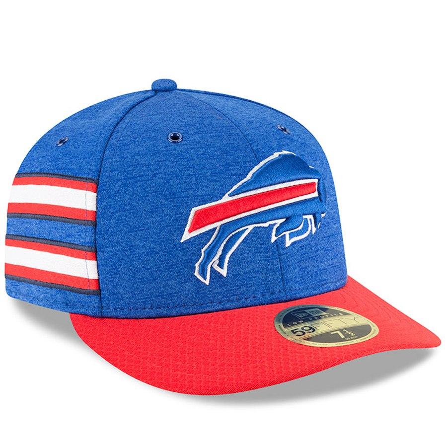 お取り寄せ NFL ビルズ キャップ/帽子 59FIFTY ロープロファイル 2018 選手着用 サイドライン ホーム ニューエラ/New Era ロイヤル