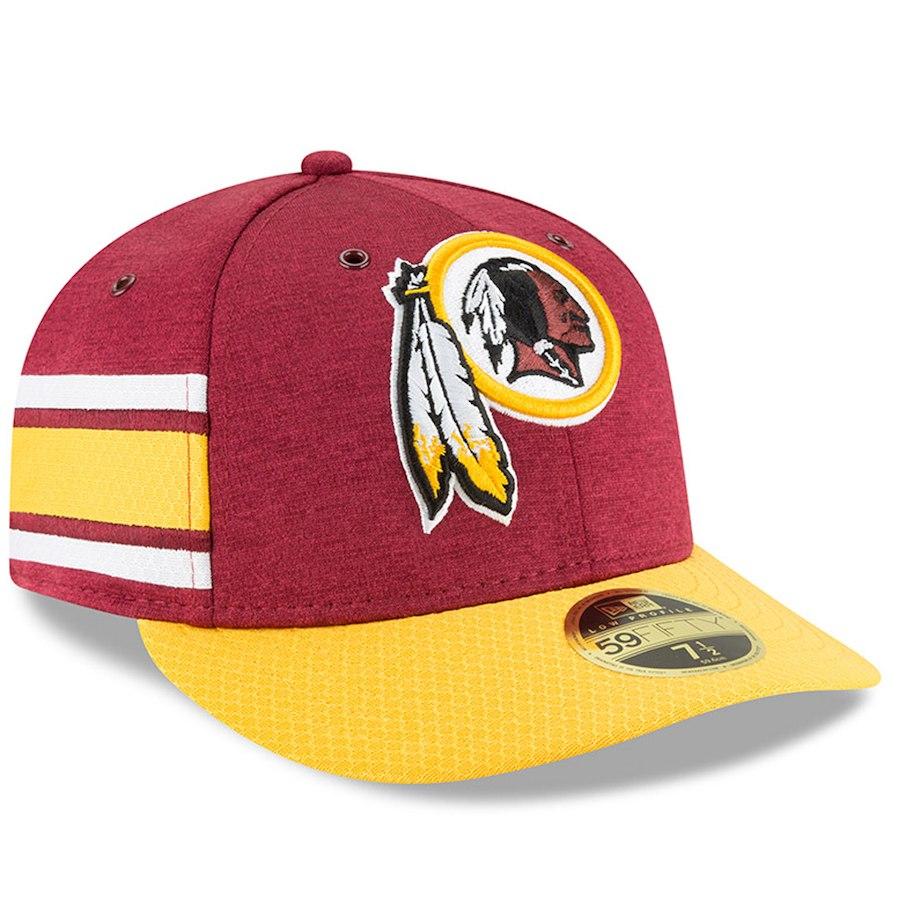 お取り寄せ NFL レッドスキンズ キャップ/帽子 59FIFTY ロープロファイル 2018 選手着用 サイドライン ホーム ニューエラ/New Era