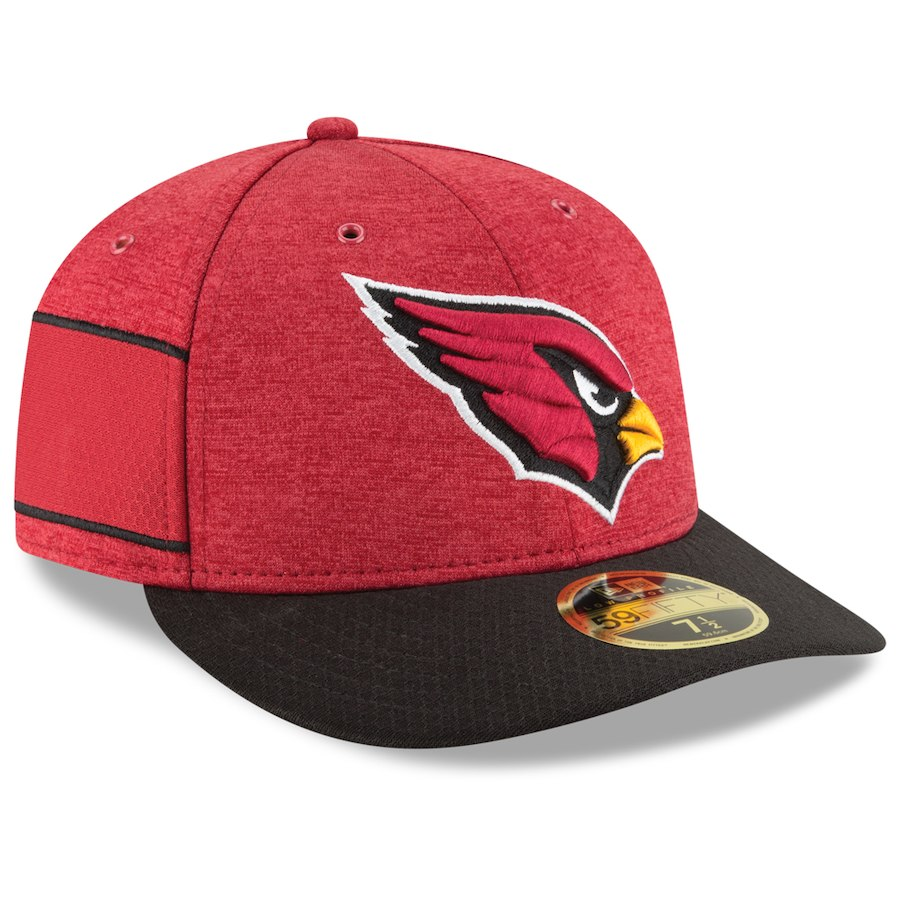 お取り寄せ NFL カーディナルス キャップ/帽子 59FIFTY ロープロファイル 2018 選手着用 サイドライン ホーム ニューエラ/New Era