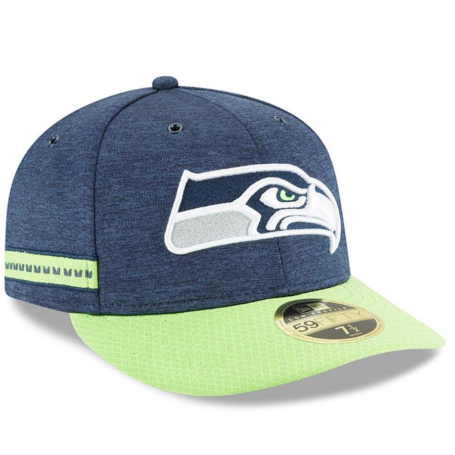 お取り寄せ NFL シーホークス キャップ/帽子 59FIFTY ロープロファイル 2018 選手着用 サイドライン ホーム ニューエラ/New Era