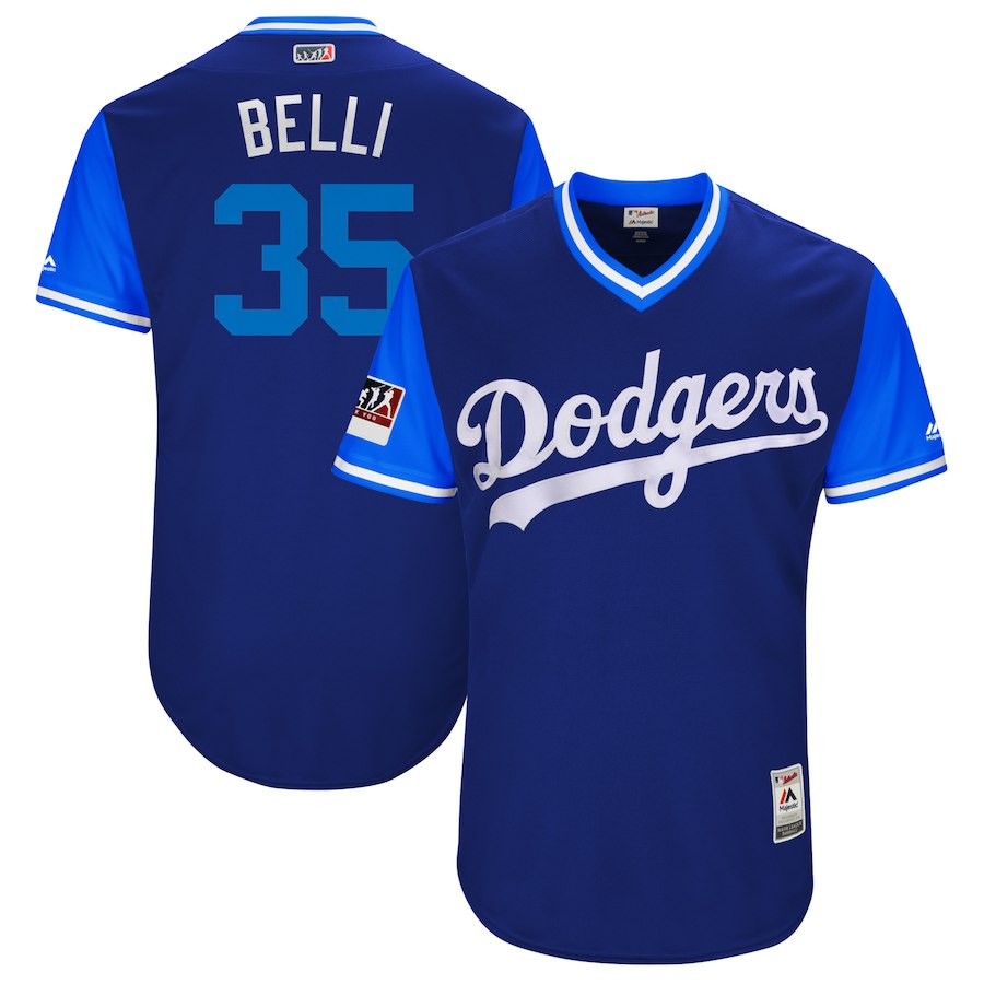 お取り寄せ MLB ドジャース コディ・ベリンジャー ユニフォーム/ジャージ 選手着用 2018 プレーヤーズ・ウィークエンド