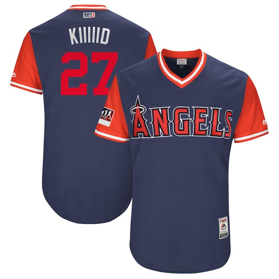 お取り寄せ MLB エンゼルス マイク・トラウト ユニフォーム/ジャージ 選手着用 2018 プレーヤーズ・ウィークエンド