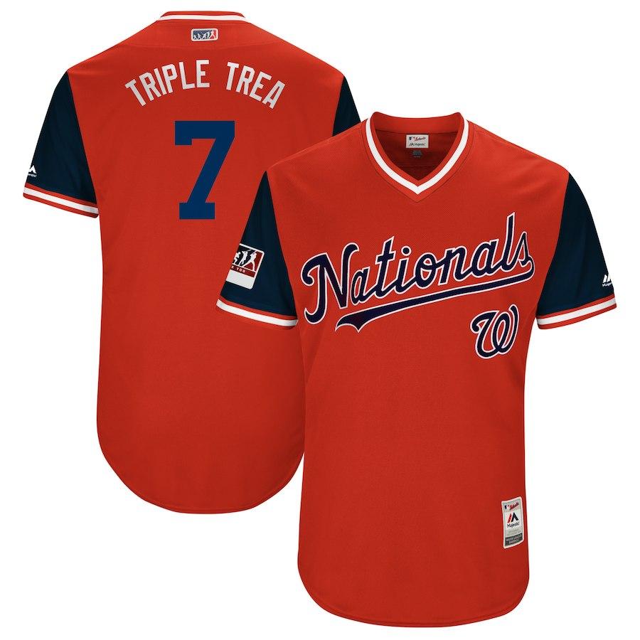 お取り寄せ MLB ナショナルズ トレイ・ターナー ユニフォーム/ジャージ 選手着用 2018 プレーヤーズ・ウィークエンド