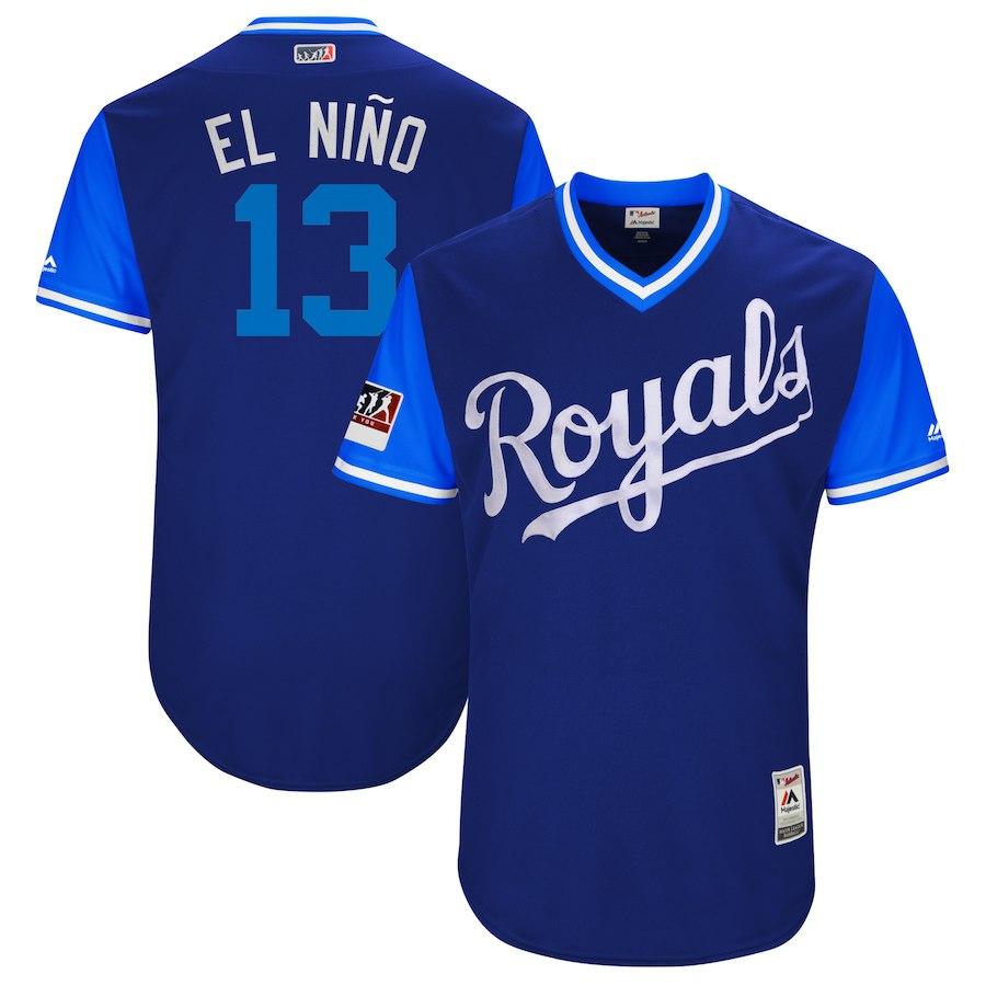 お取り寄せ MLB ロイヤルズ サルバドール・ペレス ユニフォーム/ジャージ 選手着用 2018 プレーヤーズ・ウィークエンド