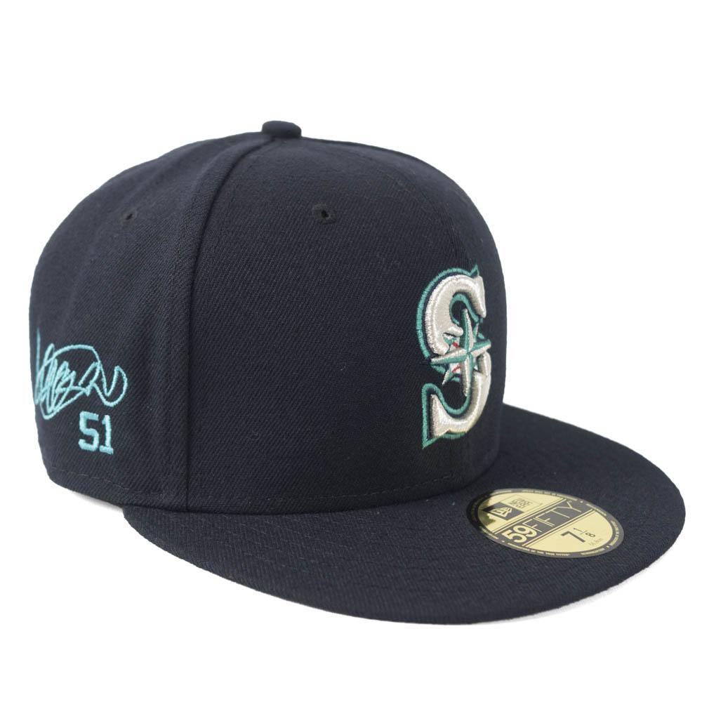 MLB マリナーズ イチロー キャップ/帽子 サイン刺繍入り 選手着用 カスタマイズ ニューエラ/New Era ゲーム