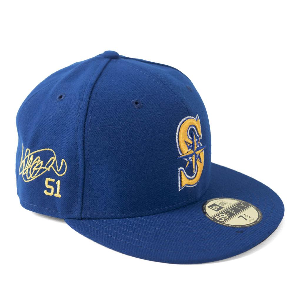 MLB マリナーズ イチロー キャップ/帽子 サイン刺繍入り 選手着用 カスタマイズ ニューエラ/New Era オルタネイト2