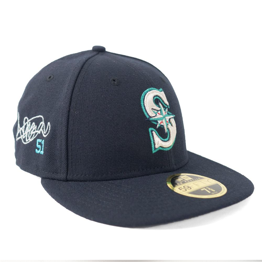 MLB マリナーズ イチロー キャップ/帽子 サイン刺繍入り 選手着用 カスタマイズ ロープロファイル ニューエラ/New Era ゲーム