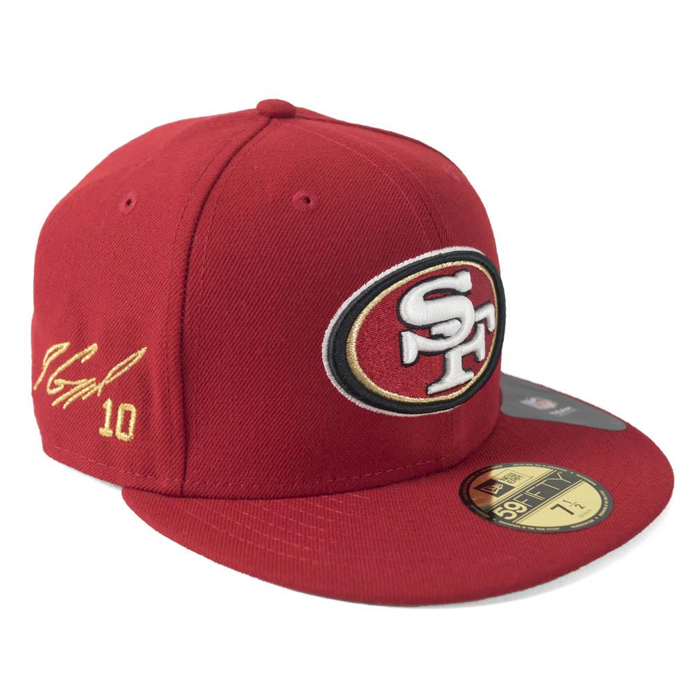 NFL 49ers ジミー・ガロポロ キャップ/帽子 サイン刺繍入り カスタマイズ ニューエラ/New Era スカーレット