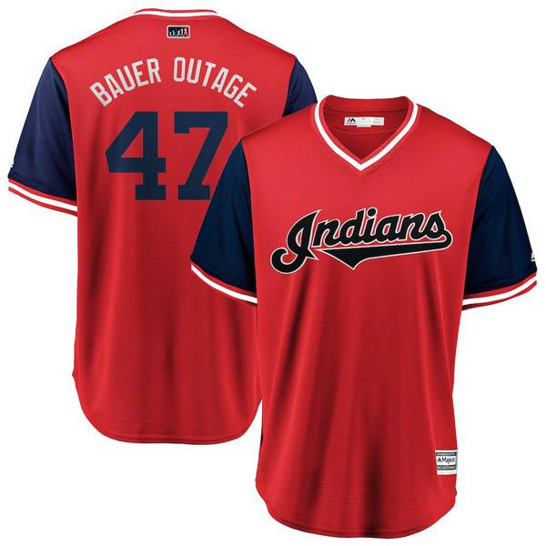 お取り寄せ MLB インディアンス トレバー・バウアー ユニフォーム/ジャージ 2018 プレーヤーズ・ウィークエンド レプリカ