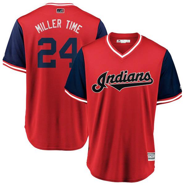 お取り寄せ MLB インディアンス アンドリュー・ミラー ユニフォーム/ジャージ 2018 プレーヤーズ・ウィークエンド レプリカ