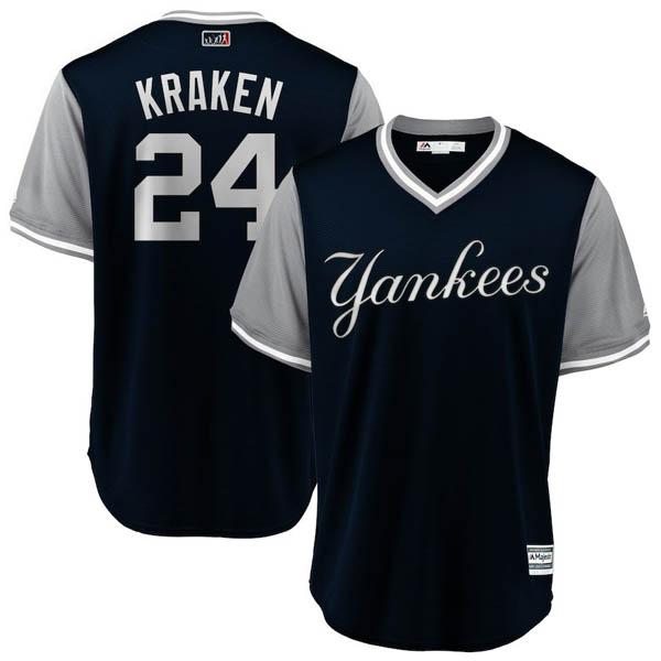 お取り寄せ MLB ヤンキース ゲイリー・サンチェス ユニフォーム/ジャージ 2018 プレーヤーズ・ウィークエンド レプリカ