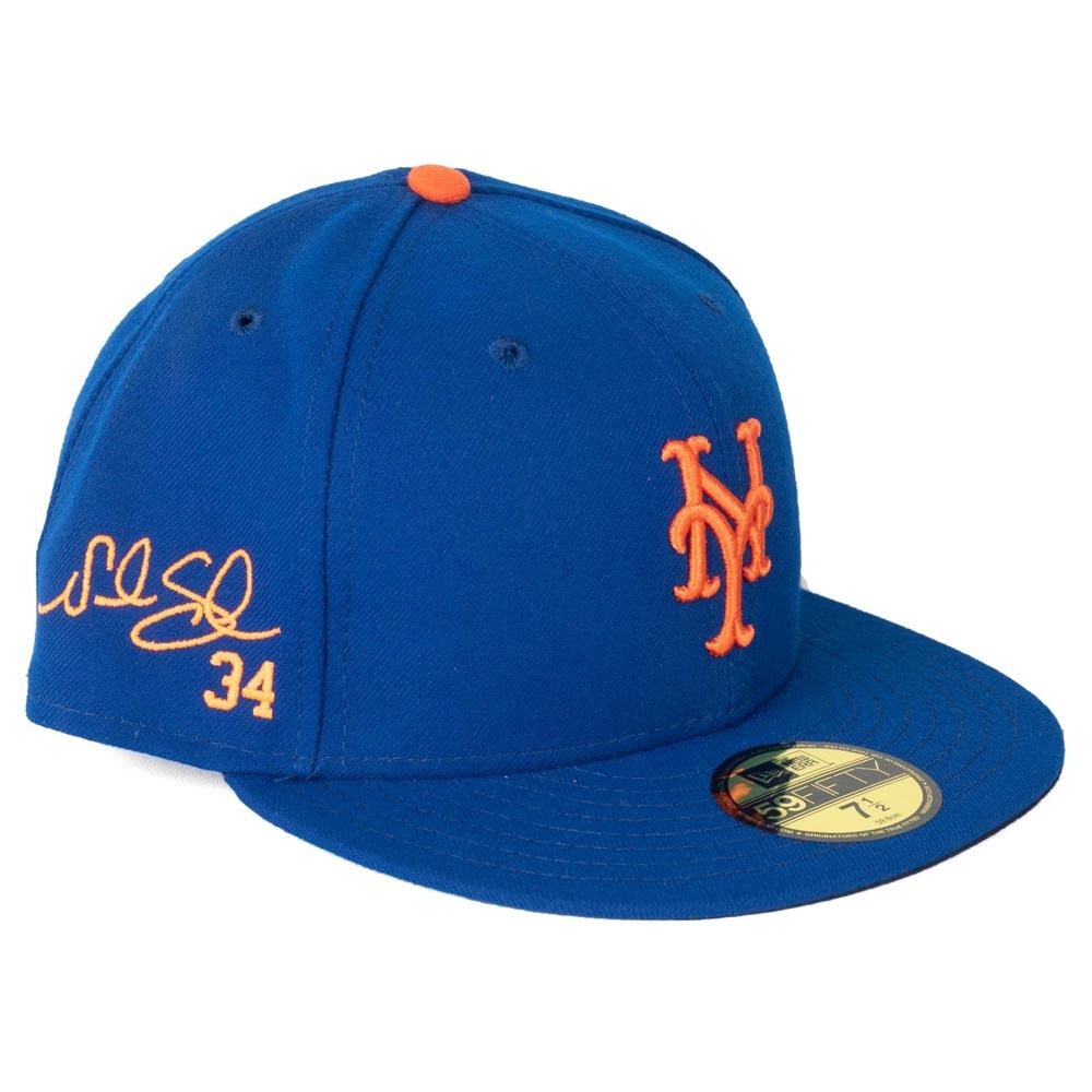 MLB メッツ ノア・シンダーガード キャップ/帽子 サイン刺繍入り カスタマイズ ニューエラ/New Era