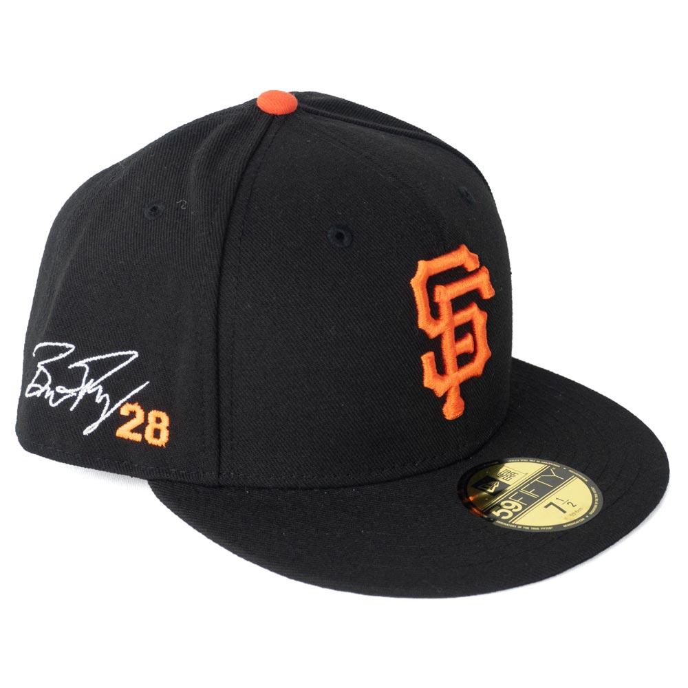MLB ジャイアンツ バスター・ポージー キャップ/帽子 サイン刺繍入り カスタマイズ ニューエラ/New Era